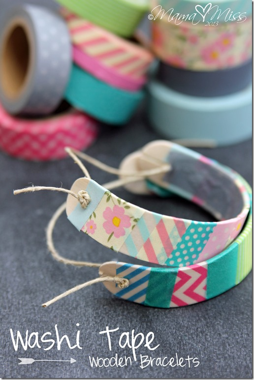 DIY Wooden Bracelets | 100 Washi Tape Ideas To Style And Personalize Your Items