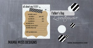 {guest post} Fathers Day Questionnaire