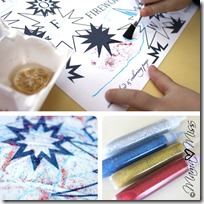Fireworks Coloring Page + Word Search