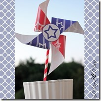 Patriotic Pinwheel & Printable