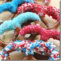 Patriotic Dipped Pretzels