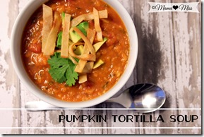 PumpkinTortilla Soup #pumpkin #soup #avocado