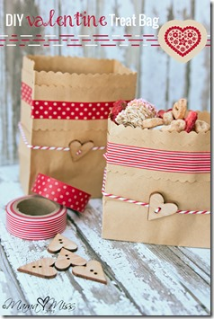 DIY Valentines Treat Bag #washitapecrafts