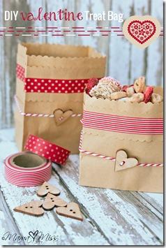 DIY Valentines Treat Bag #washitapecrafts