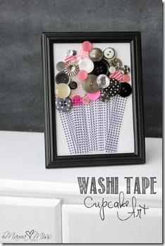 DIY Washi Tape Cupcake Art #washitapecrafts