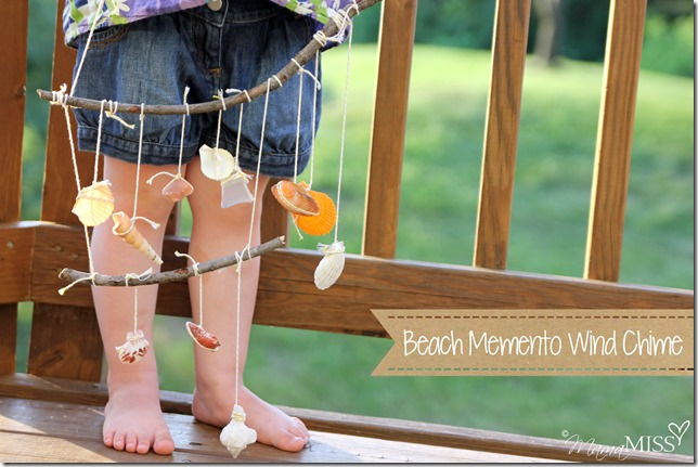 Beach Memento Wind Chime #beach #summer #windchime #kidcraft