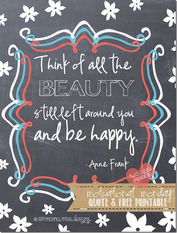 """Beauty"" -Anne Frank {graphic art print quote} #quotelove #annefrank #beauty"