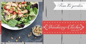 Strawberry-Chicken Salad #summersalad #strawberry #chicken #walnuts #healthy