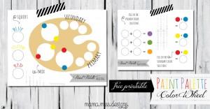Paint Palette Color Wheel #paintpalette #freeprintable #learningcolors
