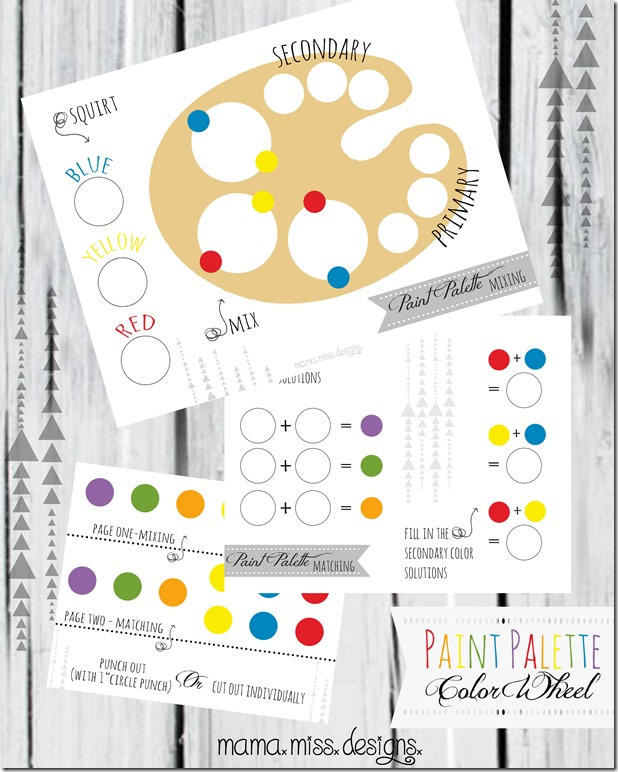 Paint Palette Color Wheel #paintpalette #freeprintable #learningcolors