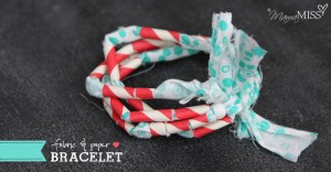 fancy fun: Fabric and Paper Bracelet