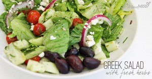 Greek Salad with fresh herbs | Mama Miss #salad #greek #healthy #dinner #fresh