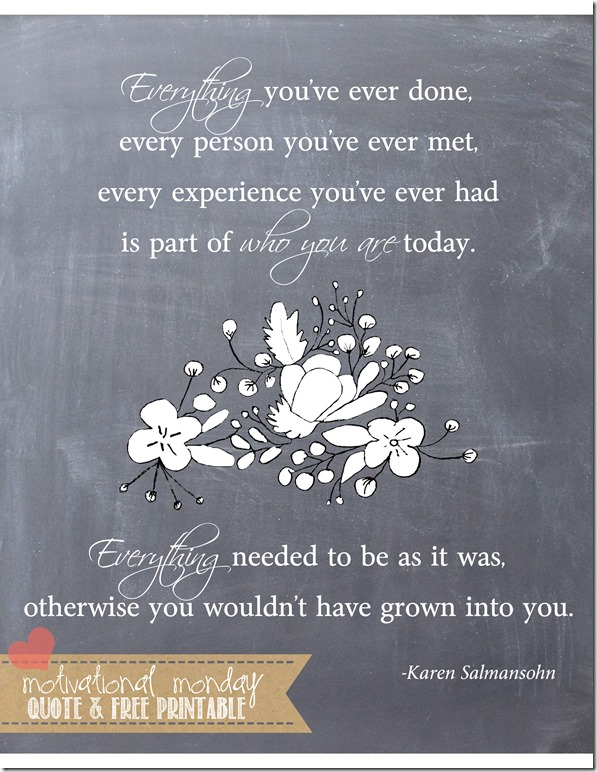 Everything (Salmansohn)   Mama Miss #motivationalmonday #quote #freeprintable
