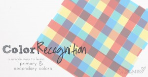Color Recognition - a simple way to learn primary & secondary colors | Mama Miss #colors #preschool #kindergarten #colorwheel