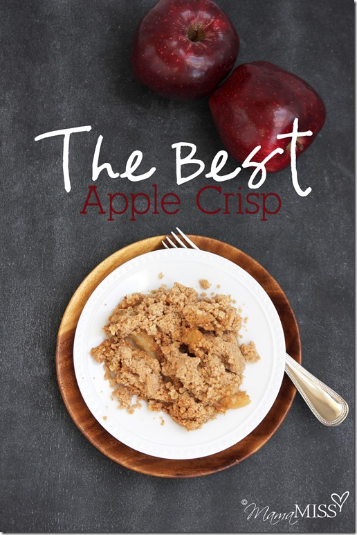 The Best Apple Crisp | Mama Miss #apple #cake #fall #crumb