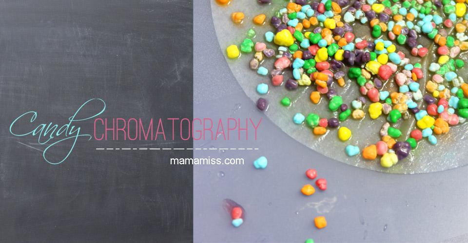 Candy Chromatography | Mama Miss #kidscience #nerdscandy #funexperiments
