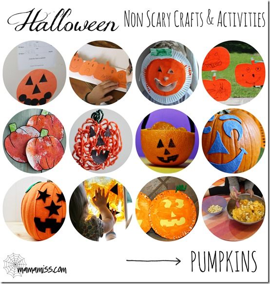kiddo halloween: Non-Scary Crafts & Activities – Pumpkins | Mama Miss #kidhalloween #pumpkin #kidcrafts #kbn