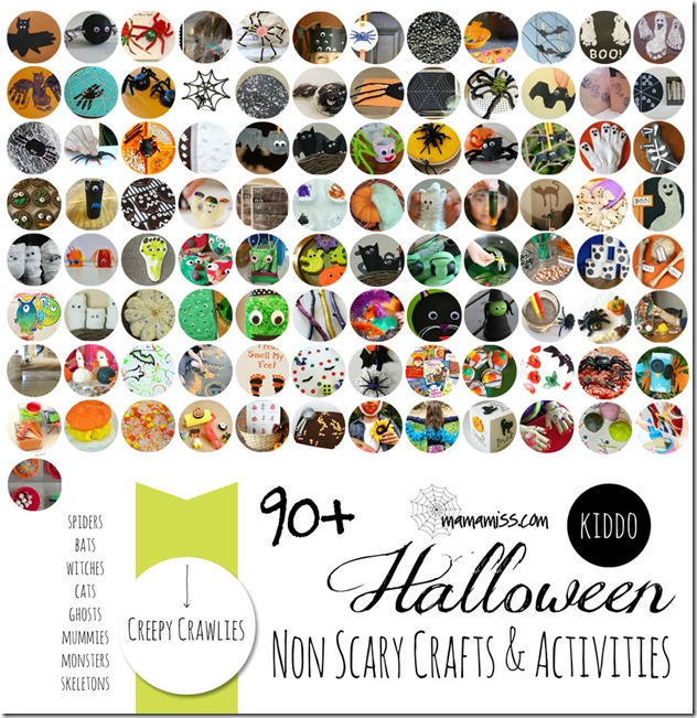 Non-Scary Crafts & Activities – Creepy Crawlies   Mama Miss #kidhalloween #ghosts #spiders #kidcrafts #kbn