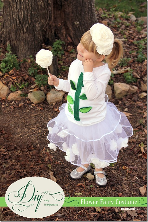 Flower Fairy Costume | Mama Miss #halloween #diy #CottonelleTarget #PMedia #ad
