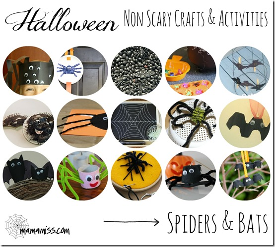 Non-Scary Crafts & Activities – Creepy Crawlies | Mama Miss #kidhalloween #ghosts #spiders #kidcrafts #kbn