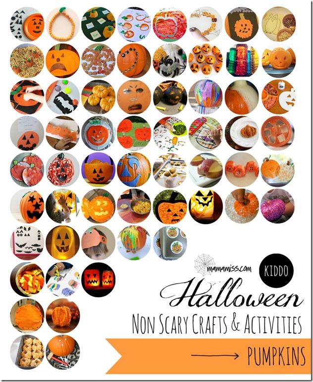 kiddo halloween: Non-Scary Crafts & Activities – Pumpkins | Mama Miss #kidhalloween #pumpkin #kidcrafts #kbn