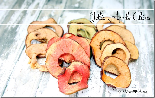 Jello Apple Chips | Mama Miss #funfood #jello #healthyfood #fallfood