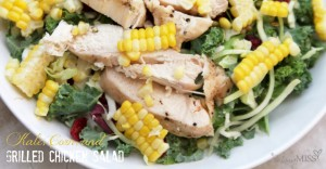 eats: Kale, Corn, and Grilled Chicken Salad (made two ways)
