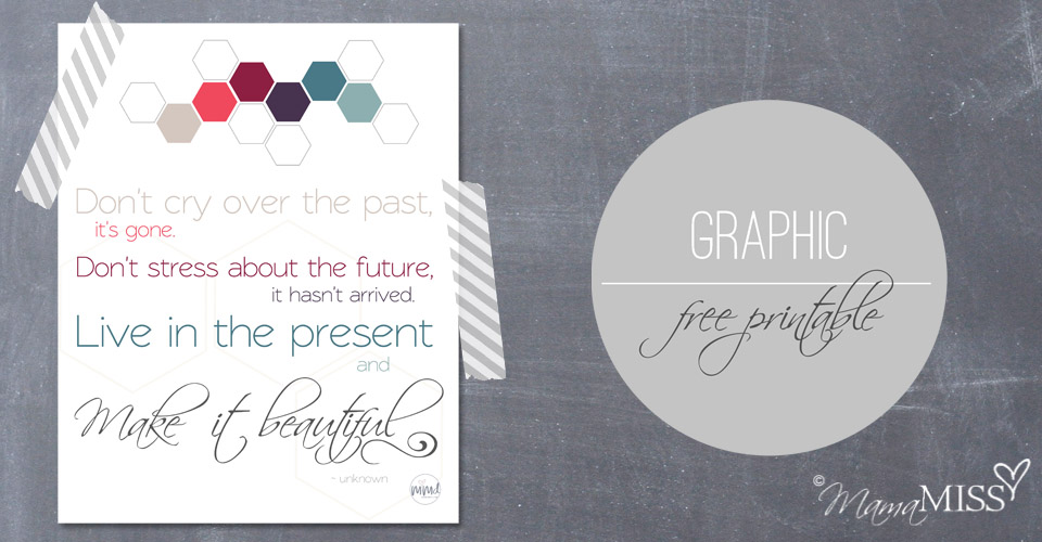 Live In The Present Quote | Mama Miss #quotelove #thefuture #freeprintable #beautiful