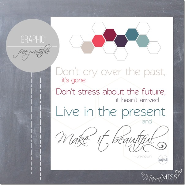 Live In The Present Quote   Mama Miss #quotelove #thefuture #freeprintable #beautiful