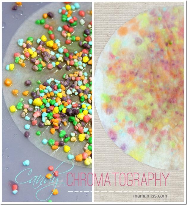 Candy Chromatography   Mama Miss #kidscience #nerdscandy #funexperiments