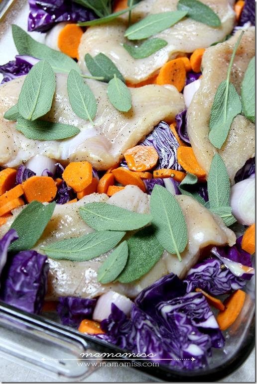 Sage Roasted Chicken   @mamamissblog #chicken #healthyeating #veggiedish