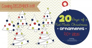 20 Days of a Kid-Made Christmas: Ornaments | @mamamissblog #kidchristmas #holidaycraftsforkids #kidornaments