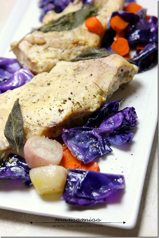 Sage Roasted Chicken | @mamamissblog #chicken #healthyeating #veggiedish