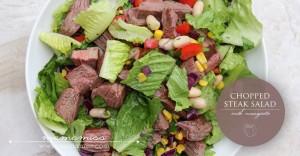 Chopped Steak Salad | @mamamissblog #healthyeating #salad #proteinpacked