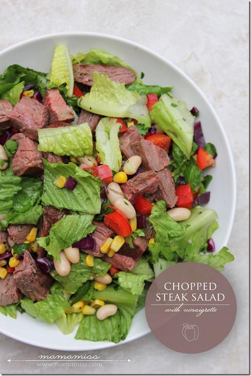 Chopped Steak Salad | @mamamissblog #healthyeating #salad #proteinpacked