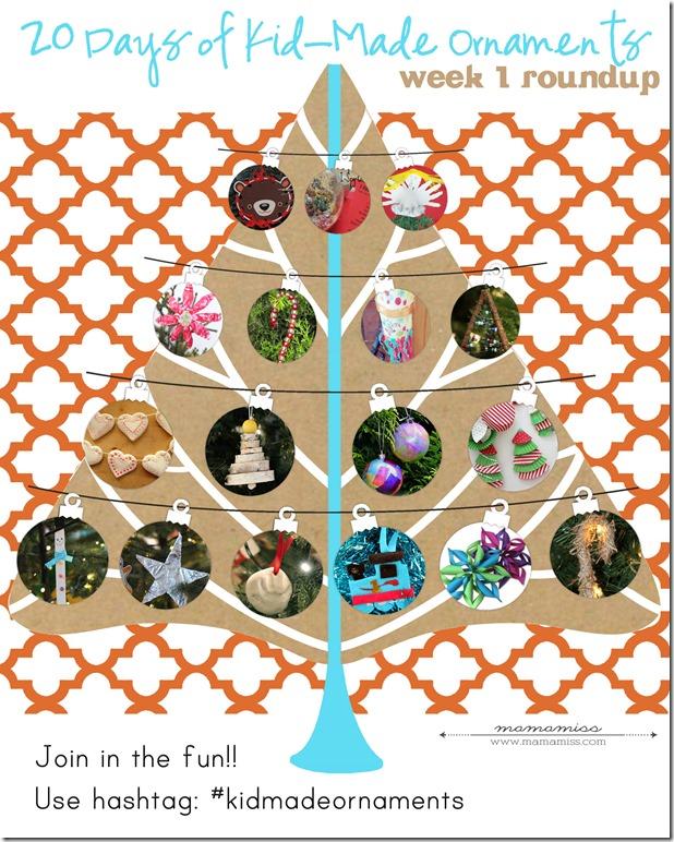 20 Days of a Kid-Made Ornaments Week 1   @mamamissblog #kidmadeornaments #kidmadechristmas