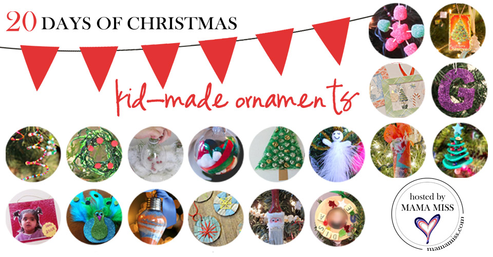 20 Days of Kid-Made Ornaments: fifty seven creations | @mamamissblog #kidmadeornaments #kidmadechristmas #kidcrafts