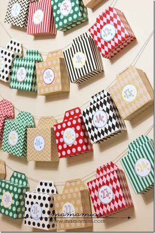 DIY Advent Calendar and Printable Number Stickers | @mamamissblog #adventcalendar #books #freeprintable #diyonthefly