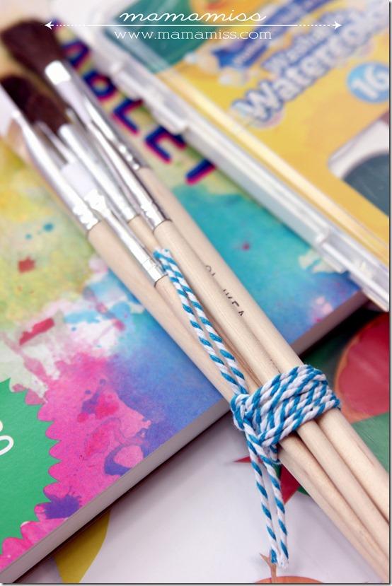 DIY little artists gift box | @mamamissblog #DIYgift #kidart #giftidea