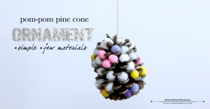 create kiddo: Pom-Pom Pine Cone Ornament