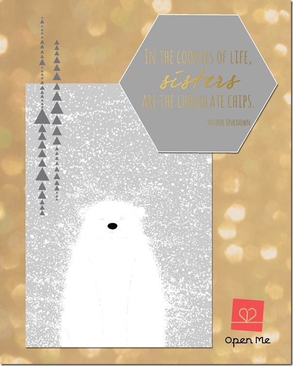 Connecting Sisters For The Holidays | @mamamissblog #sisterhood #openmecards