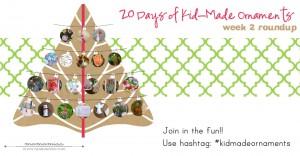 20 Days of Kid-Made Ornaments: week 2 | @mamamissblog #kidmadeornaments #kidmadechristmas