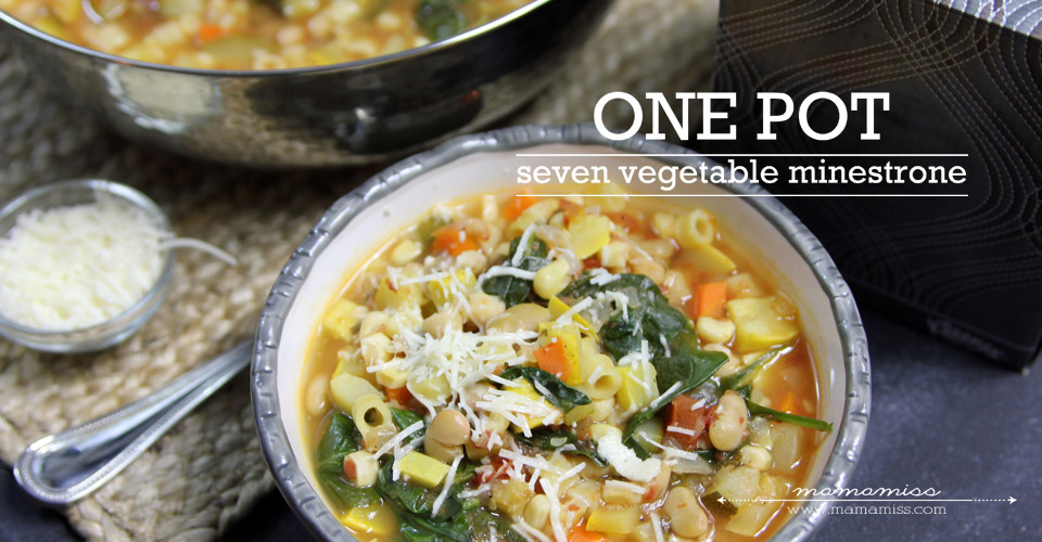 kicking the flu: Seven Vegetable Minestrone Soup