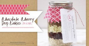 gifty: Chocolate Cherry Drop Cookies {in a jar}