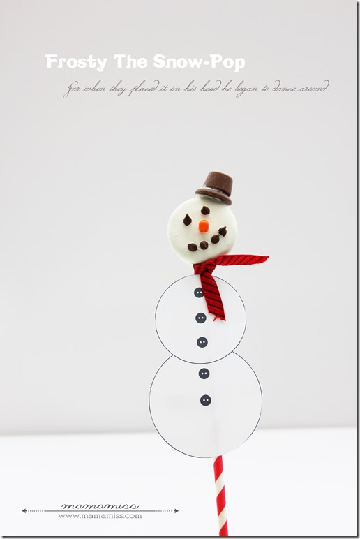 Frosty The Snow-Pop | @mamamissblog #frosty #kidtreats #christmasfood #snowman