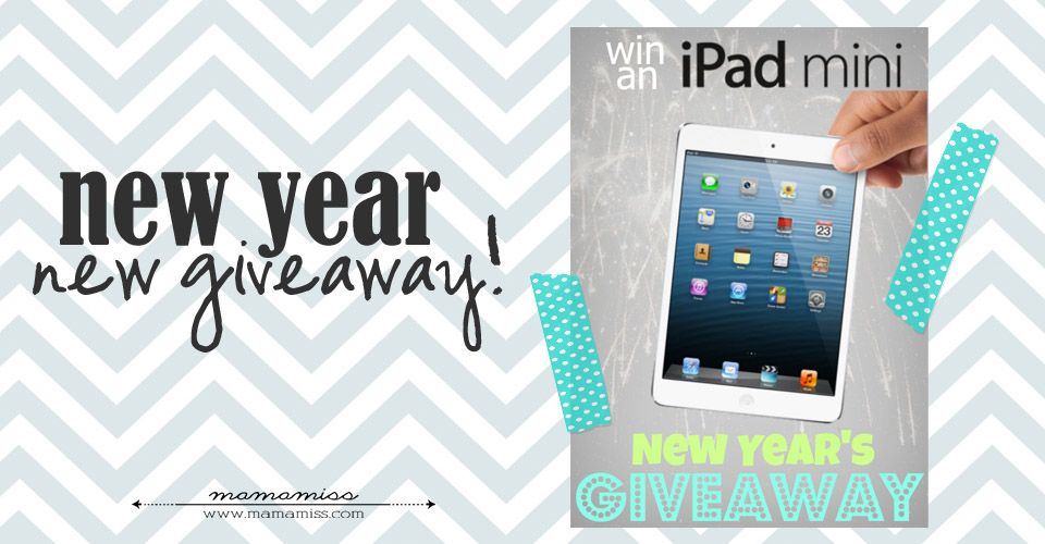New Year - New Giveaway | @mamamissblog #giveaway #ipadmini