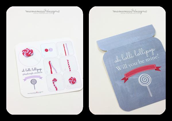 Lollipop Playdough Creation Kit Valentine   @mamamissblog #valentine #homemadeholiday #playdough #createwithkids #kbn
