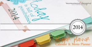 2014 Blogger Planner, Calendar, and Menu Planner