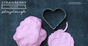 kiddo fun: Strawberry No Cook Playdough