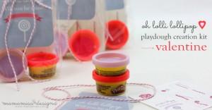 Lollipop Playdough Creation Kit Valentine | @mamamissblog #valentine #homemadeholiday #playdough #createwithkids #kbn